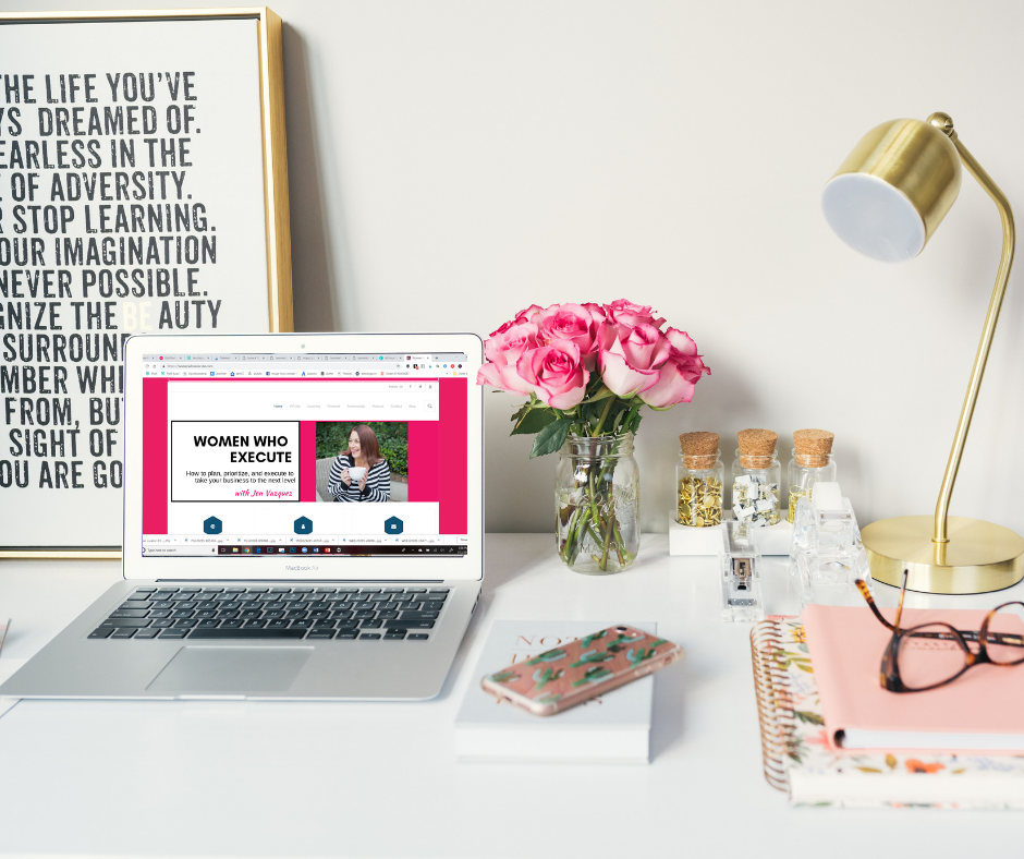 women who execute computer homepage image created using Canva