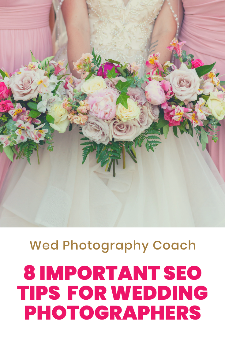 8 important seo tips for wedding photographers/
