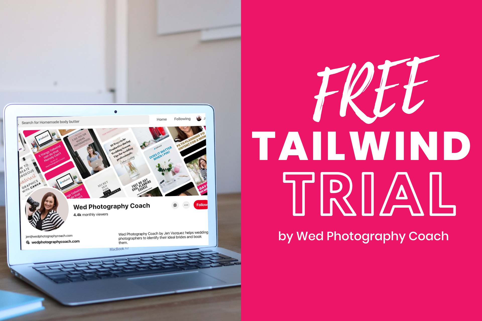 Free Tailwind Trial by wed photography coach