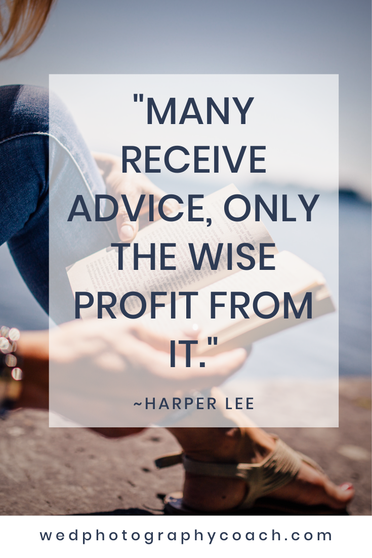 _Many receive advice, only the wise profit from it._