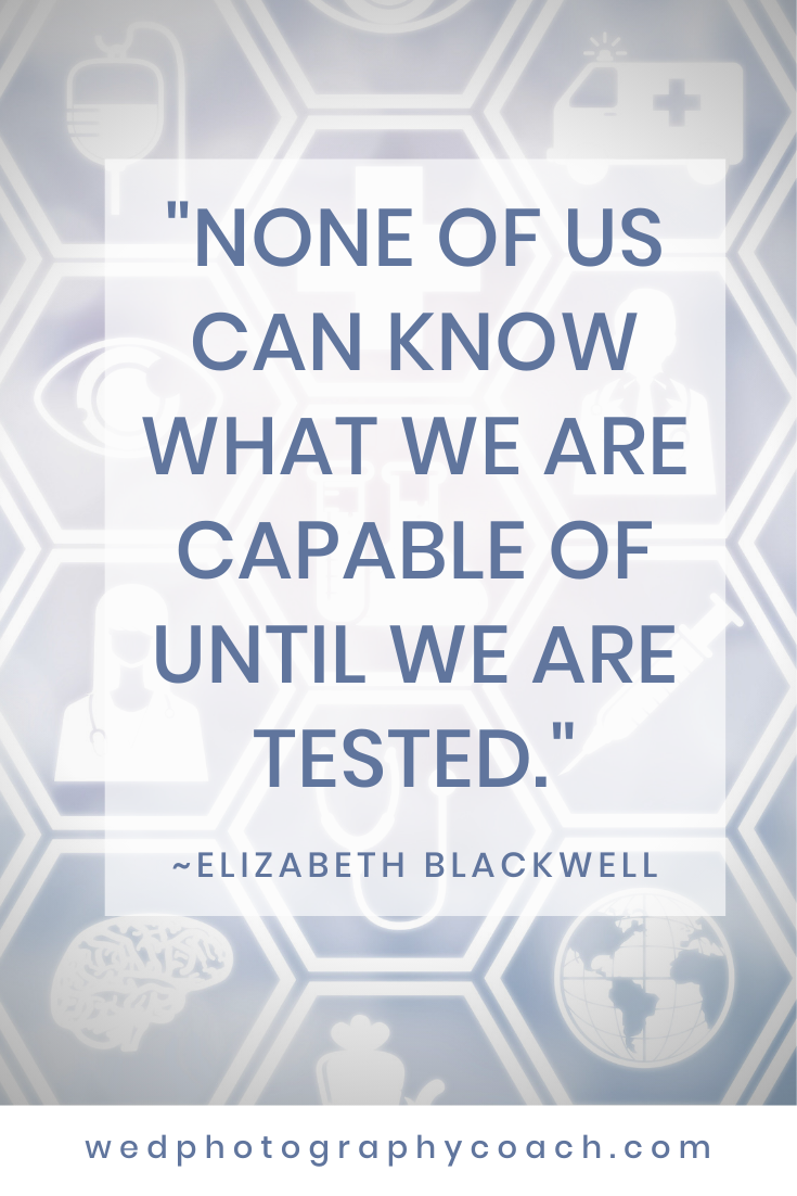_None of us can know what we are capable of until we are tested._