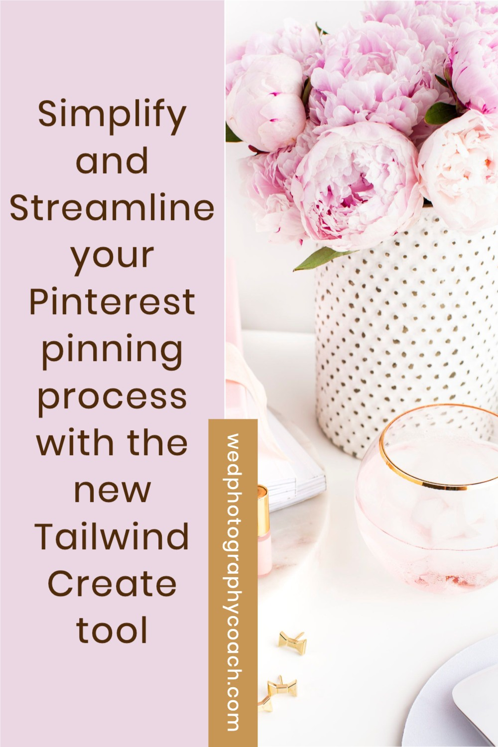 THE SECRET TO MAKE PINTEREST MARKETING EASY:  Simplify and Streamline your process with the new Tailwind Create.  This is how easy it is.